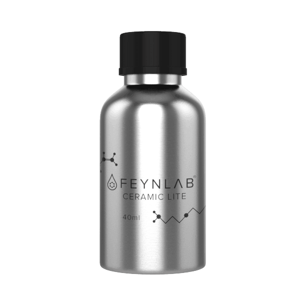 Feynlab Ceramic Lite is a durable easy to apply ceramic nano coating that greatly out performs waxes or sealants on automotive exterior surfaces.